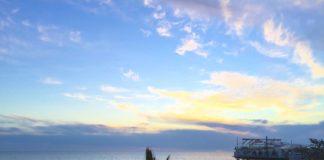 Сочи - закат на пляже