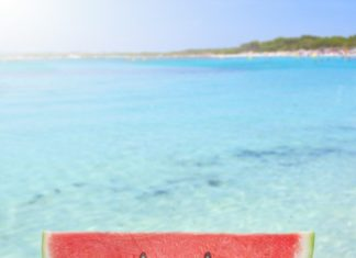 Море, Пляж, арбуз